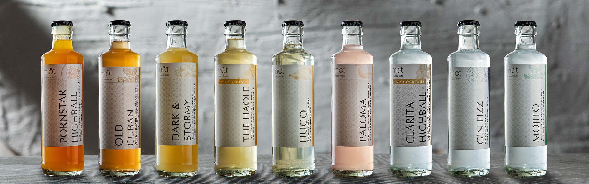 mōt – a matter of taste . Cocktails trinkfertig in Flaschen