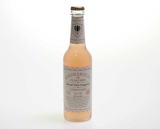 Solidaritäts Limo die Mandel Pink Grapefruit Limonade 0,33l