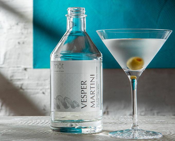 Vesper Martini, der Liebling James Bonds als bottled cocktail