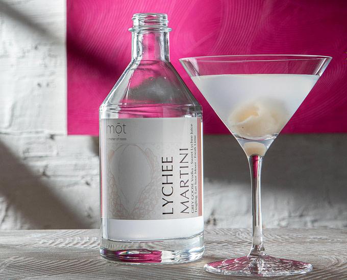 Lychee Martini mit Grey Goose, Fertigcocktail aus der Flasche