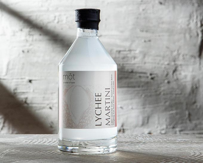 Lychee Martini mit Grey Goose Vodka als Bottled Cocktail